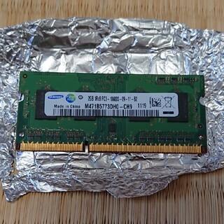 サムスン(SAMSUNG)のノートPC用メモリ 2GB 1枚 Samsung DDR3 PC3-10600S(ノートPC)