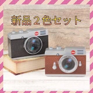 カルディ(KALDI)の新品★カメラ缶チョコレート 茶色 黒色 2点セット(菓子/デザート)