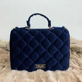 新品 ハンドバック スエード ネイビー カバン 鞄 トートバッグ クラッチバック(ハンドバッグ)