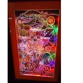 ドラゴンボール(ドラゴンボール)のドラゴンボールZ LEDライトパネル レインボーライトパネル 悟空 神龍 破壊神(キャラクターグッズ)