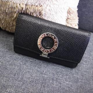 正規品☆ブルガリ ロゴクリップ キーケース 黒 バッグ 財布 小物