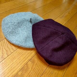ジーユー(GU)の【美品】GU FOREVER 21 ベレー帽2個セット(ハンチング/ベレー帽)
