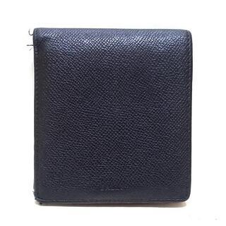 バリー(Bally)のバリー 2つ折り財布 - 黒×ボルドー レザー(財布)