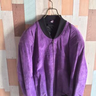 アートヴィンテージ(ART VINTAGE)の古着 90s vintage レザーブルゾン MAー1 紫(ブルゾン)