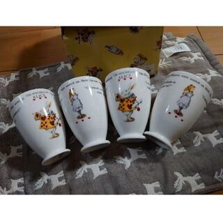 アリス フリーカップ4こセット(グラス/カップ)