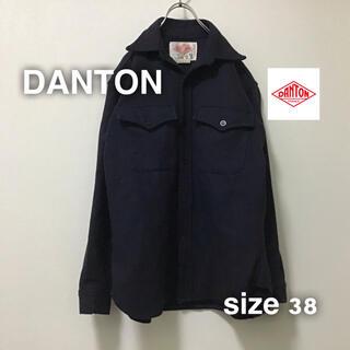 ダントン(DANTON)のDANTON ダントン ウールシャツ ジャケット 38 M フランス製 毛(カバーオール)