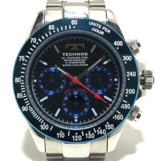 テクノス(TECHNOS)のテクノス 腕時計 - メンズ クロノグラフ 黒(その他)