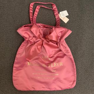 メゾンドフルール(Maison de FLEUR)のリボントートバッグ ピンクand赤セット(トートバッグ)
