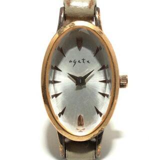 アガット(agete)のアガット 腕時計 - レディース SILVER GP(腕時計)