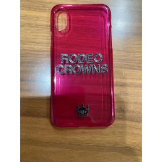 ロデオクラウンズワイドボウル(RODEO CROWNS WIDE BOWL)のロデオ☆iPhone Xケース(iPhoneケース)