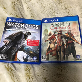 プレイステーション4(PlayStation4)のウォッチドッグスコンプリート&アサシンクリード3作品セット(携帯用ゲームソフト)
