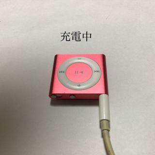 アップル(Apple)のiPod shuffle 4世代 2GB 稼働品 赤紫-2(ポータブルプレーヤー)