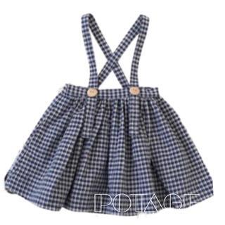 Caramel baby&child  - SP チェック柄 コットンストラップスカート 再販 確認用