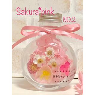 セール! ハーバリウム 桜 ピンク NO.2(ドライフラワー)