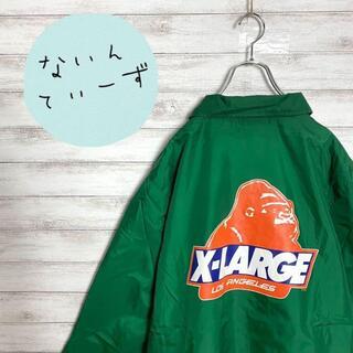 XLARGE - 【アースカラー】エクストララージ ゴリラロゴ バックプリント コーチジャケット