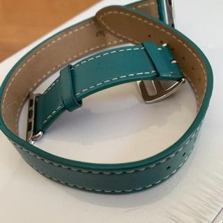 アップルウォッチ(Apple Watch)のアップルウォッチベルト 二重巻き ブルー38mm(その他)