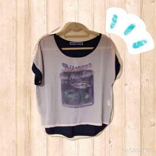 ジエンポリアム(THE EMPORIUM)の異素材Tシャツ(Tシャツ(半袖/袖なし))