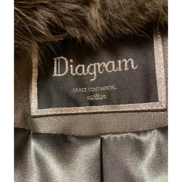 GRACE CONTINENTAL(グレースコンチネンタル)のグレースコンチネンタル ダイアグラム ファー ポンチョ コート レディースのジャケット/アウター(毛皮/ファーコート)の商品写真