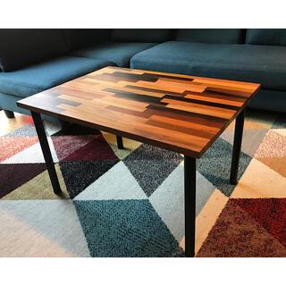 〓栄町工房〓 ミックス集成材ローテーブル 50×70×42 ご自身で脚取付け(ローテーブル)