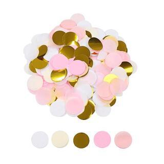 mmp96紙吹雪 丸 直径25mm ピンク ゴールド 大量 20000枚 結婚式(その他)
