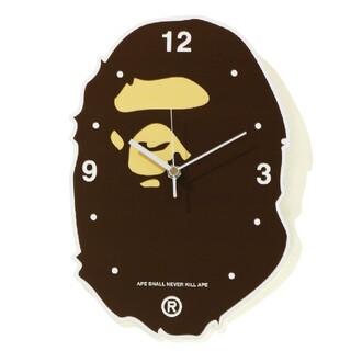 アベイシングエイプ(A BATHING APE)の激レア A BATHING APE APE HEAD WALL CLOCK(掛時計/柱時計)