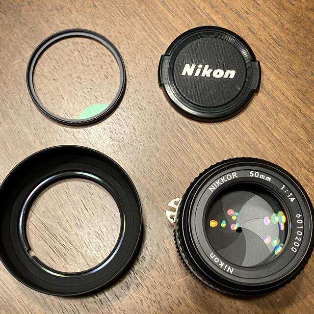 Nikon(ニコン)のNikon Ai-S Nikkor 50mm F1.4 MF単焦点レンズ スマホ/家電/カメラのカメラ(レンズ(単焦点))の商品写真