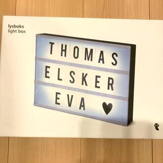 フライングタイガーコペンハーゲン(Flying Tiger Copenhagen)のカスタムメッセージ ライトボックス ブラック(ウェルカムボード)