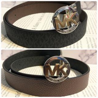 Michael Kors - リバーシブル プレゼント 新品 ブランド マイケルコース MK ロゴ ベルト