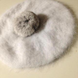 アースミュージックアンドエコロジー(earth music & ecology)のグレー♡ベレー帽(ハンチング/ベレー帽)