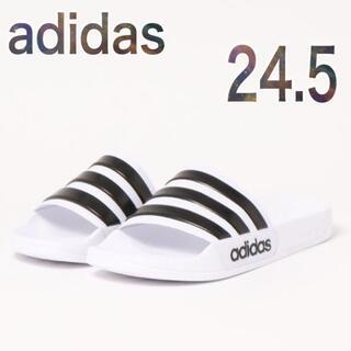 adidas - adidas 24.5 サンダル 新品 白