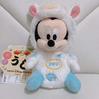 ディズニー(Disney)のディズニー☆ミッキー☆干支☆ぬいぐるみバッジ☆2021(ぬいぐるみ)