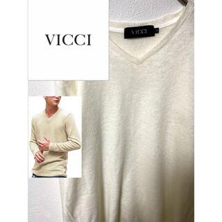 vicci ビッチ セーター ニット クルーネック ホワイト(ニット/セーター)