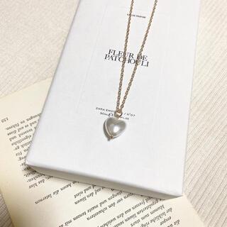ザラ(ZARA)の〜 pearl heart necklace 〜(ネックレス)
