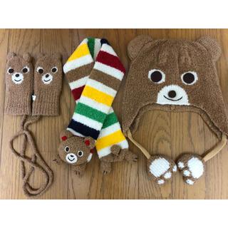 mikihouse - ♡お値下げ♡ミキハウス プッチー マフラー、帽子、ミトン(手袋)S