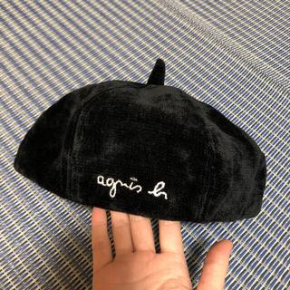 agnes b. - agnes b.  アニエスベー キッズ ベレー帽 コーデュロイ  ブラック