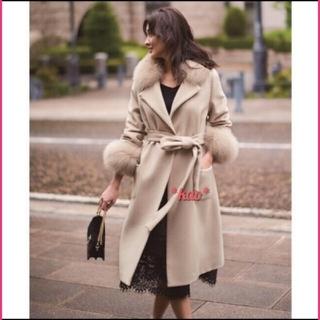 ジャスグリッティー(JUSGLITTY)の新品未使用♡ジャスグリッティー♡衿ファー付きポケットファーコート(毛皮/ファーコート)