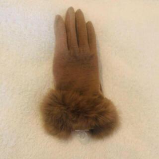 BEAUTY&YOUTH UNITED ARROWS - 新品未使用タグ付き  アンゴラ混合 上品なファ−手袋