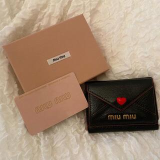 ミュウミュウ(miumiu)のミュウミュウ ラブレター ミニ財布 miumiu(財布)
