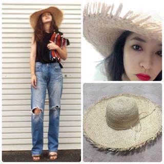シェル(Cher)の新品 cher ハット 麦わら帽子(麦わら帽子/ストローハット)