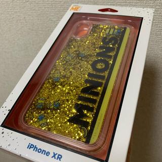 ミニオン(ミニオン)のiPhoneXR ミニオン イエロー ラメ グリッター iPhoneケース 黄色(iPhoneケース)