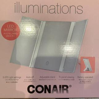 コストコ(コストコ)のCONAIR コンエアー イルミネーション ミラー 鏡 LEDライト付(卓上ミラー)