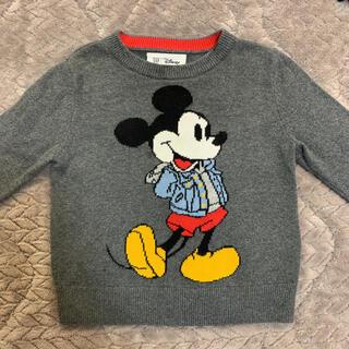 ベビーギャップ(babyGAP)のbaby gap ミッキーマウス ニットセーター 18-24month(ニット/セーター)