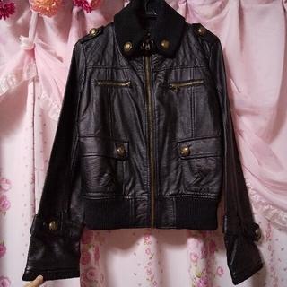 シマムラ(しまむら)のお値下げ◆美品◆Lサイズ ライダースジャケット(ブラック)(ライダースジャケット)