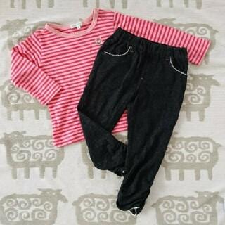 サンカンシオン(3can4on)のサンカンシオン ロンT パンツ 95 100(Tシャツ/カットソー)