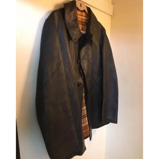 コモリ(COMOLI)の70s french fireman leather jacket(レザージャケット)