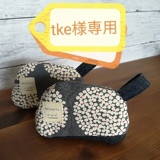 ストウブ(STAUB)の✧tke様専用✧鍋つかみ✧ Nokka『ノッカ』花柄グレー&猫柄レッド(キッチン小物)
