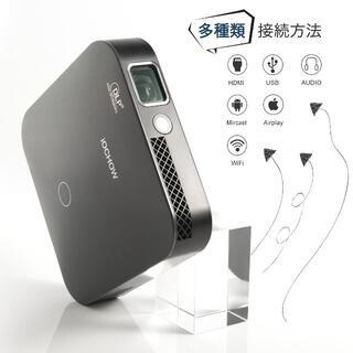 【新品・送料込】超ミニ プロジェクター 1080PフルHD 高解像度 小型(プロジェクター)