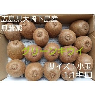 おチュみえん様専用 無農薬!グリーンキウイ小玉1.1キロ&レモン1.5キロ(フルーツ)