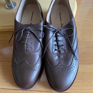 サマンサモスモス(SM2)の新品未使用 SM2 Lサイズ レザー 可愛い靴 茶(ローファー/革靴)