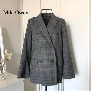 Mila Owen - 【美品】ミラオーウェン チェックジャケット